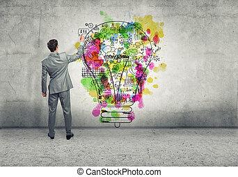 pensando, criativo