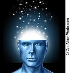 pensando, inteligente