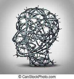 pensando, torturado