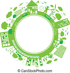 pensar, conceitos, verde, desenho