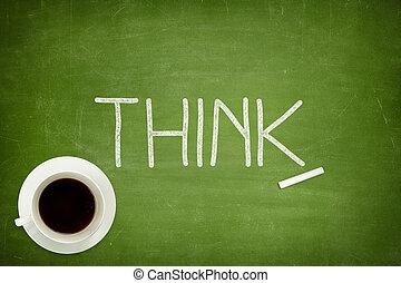 pensar, concepto, en, pizarra