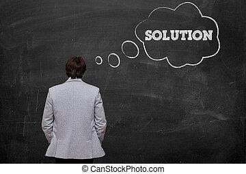pensar en, solución