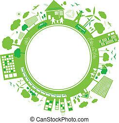 pensare, concetti, verde, disegno