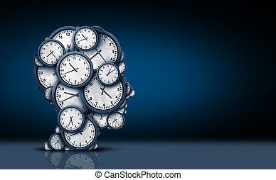 pensare, concetto, tempo