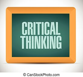 pensare, critico, asse, illustrazione, segno