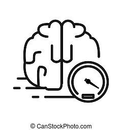 pensare, disegno, più veloce, illustrazione