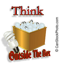 pensare, esterno, scatola, energia, risparmio