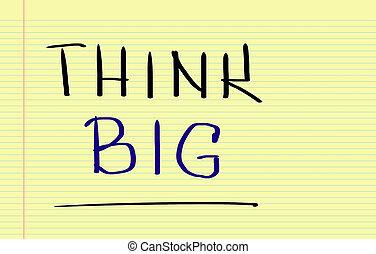 pensare, grande, concetto