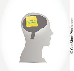 pensare, head., palo, critico