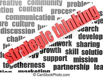 pensare, lavoro, affari, strategico