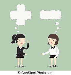 pensare, positivo, negativo