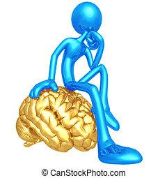 pensatore, mente, tuo