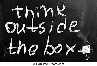 penser, dehors, boîte