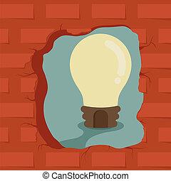 penser, dehors, obtenir, boîte, idée