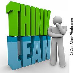 penser, maigre, personne, pensée, efficace, business,...
