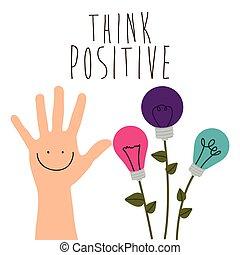penser, positif, conception