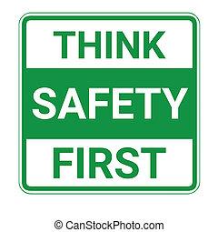 penser, sûreté abord, signe