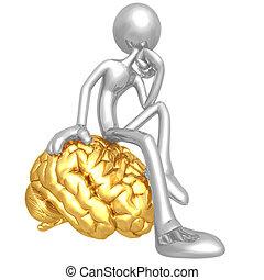 penseur, esprit, ton