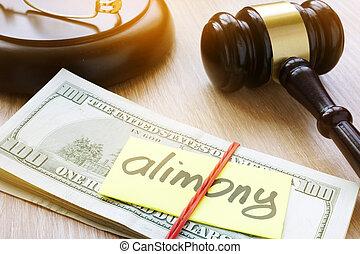 pensión, desk., tribunal, separación, concepto, divorcio