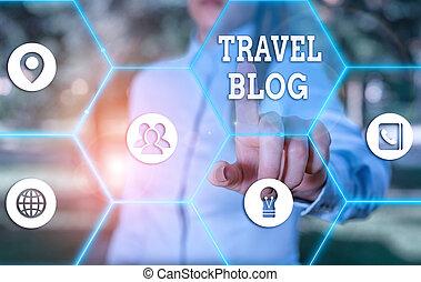 pensieri, showcasing, concettuale, mano, esposizione, affari, foto, esperienze, scrittura, viaggiare, blog., intorno, locali, condivisione, world.