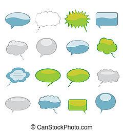 pensiero, bolle, discorso