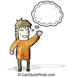 pensiero, persona, bolla
