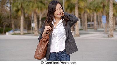 pensieroso, donna, attraente, giovane