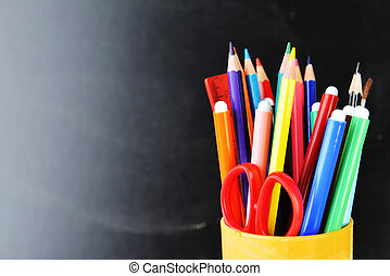 school supplies  - pensil, pen and other  school supplies