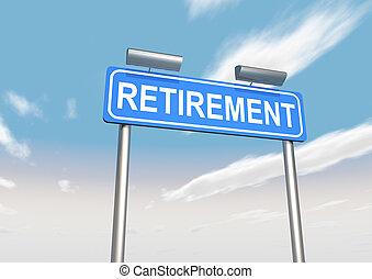pensioen, meldingsbord