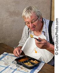 pensionär, essen