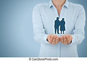 pension, assurance, aînés