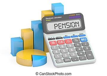 Pension concept, 3D rendering