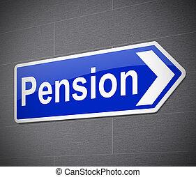 Pension concept.