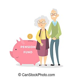 Pension fund concept.