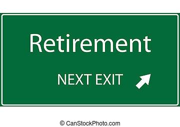 pensionamento, illustrazione