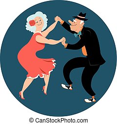 pensionati, latino, ballo