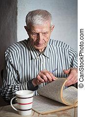 portrait of senior man