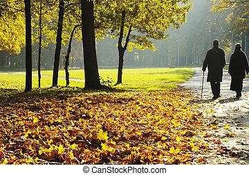 pensioners, гулять пешком