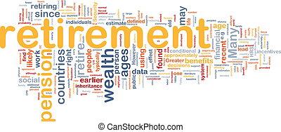 pensionierung, knochen, hintergrund, begriff