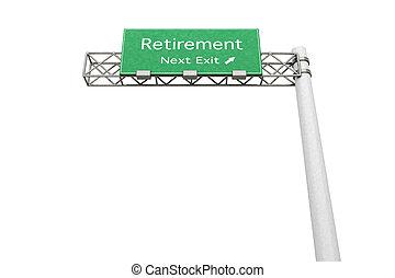 pensionierung, -, landstraße zeichen