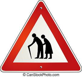 pensionista, aposentadoria, atenção