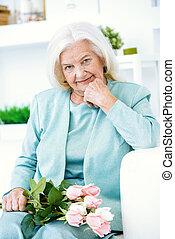 pensionista, flores