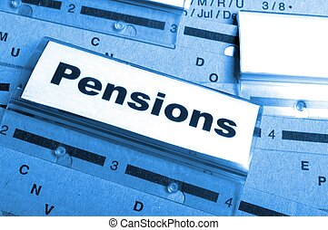 pensions - pension pension or retirement concept with word...