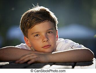 pensive boy