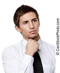Pensive business man