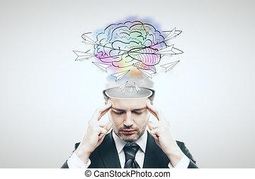Creative thinking concept