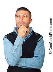 Pensive executive man