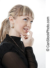 Pensive girl  blonde