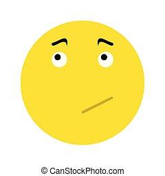 Pensive Smiley icon