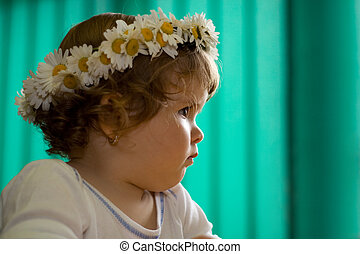Pensive toddler princess